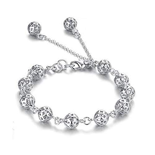 MGMDIAN Korean women's exquisite fashion hollow Crystal Bracelet Silver plated bracelet jewelry accessories