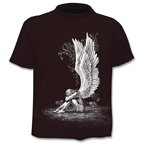 Camiseta De Manga Corta T-Shirt Camiseta para Hombre Camiseta 3D Gun Warrior Camisetas Estampadas Camiseta De Manga Corta para Fitness-0639_3XL