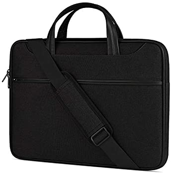 Laptop Case 13-14 inch Laptop Shoulder Bag Waterproof Computer Sleeve Carrying Business Bag for MacBook Air/Pro Notebook Portable Handle Laptop Messenger Bag Black