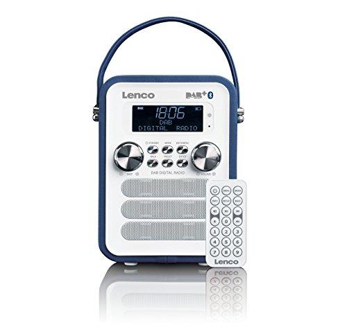 Lenco Vintage Digitalradio DAB+ PDR-050 mit Bluetooth , PLL FM-Radio und RDS/LCD Display Blau