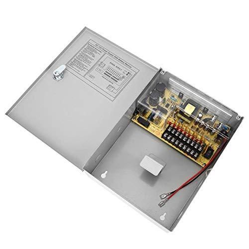 Alimentatore per controllo accessi UPS, scatola alimentatore, spegnimento ritardato Raffreddamento naturale Alimentatore 12V Sistemi di controllo accessi per casa The Mall Store