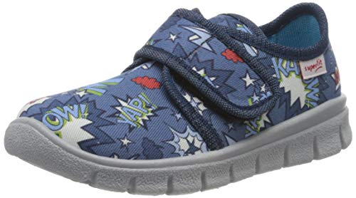 superfit Bobby, Zapatillas de Estar por casa para Niños, Azul (Blau 80), 28 EU