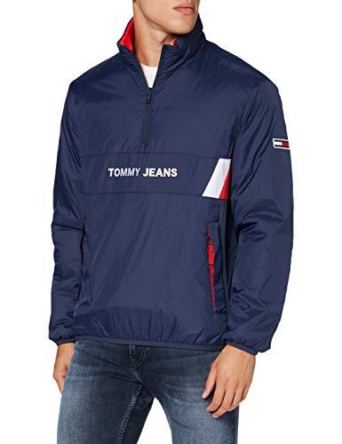 Tommy Jeans Herren TJM Reversible Retro Popover Jacke, Blau (Twilight Navy), X-Large