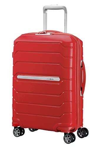Samsonite Flux - Spinner Equipaje de Mano, 55 cm 44 litros, Rojo (Red)