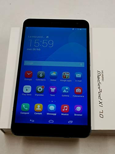 Huawei MediaPad X1 7.0 Tablet-PC (17,8 cm (7 Zoll) Display, 1,6 GHz-Quad Core-Prozessor, 2GB RAM, 16GB HDD, LTE, Android 4.2)