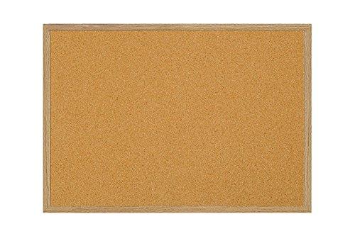 "MasterVision Maya Series Self-Healing Cork Bulletin Board, Wall Mounting Push Pin Cork Board, 36"" x 60"", Wood Frame"