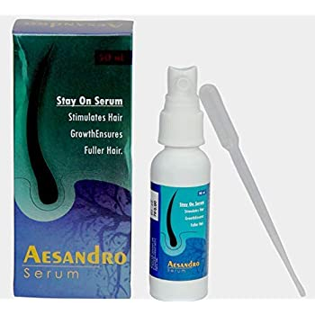 AESDER Aesandro Hair Growth Serum For Falling Hair Intensive Hair Growth Treatment With Clover Flower Extract - Hair Fall Control serum For Men 50 ml