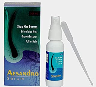 AESDER Aesandro Hair Growth Serum For Falling Hair Intensive Hair Growth Treatment With Clover Flower Extract - Hair Fall Control serum For Men 50 ml