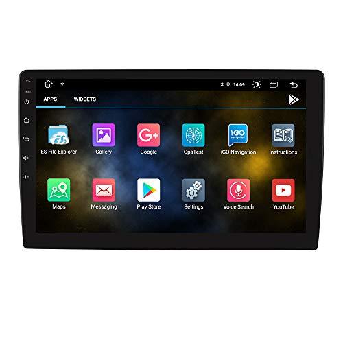 Autoradio universale Android 10 OS con navigazione GPS Mirrorlink Vivavoce Bluetooth Schermo touchscreen da 9 pollici Lettore video USB Ingresso audio video AUX