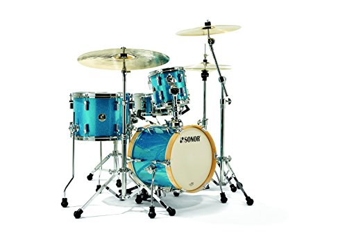 Sonor Drums SSE 13 MARTINI TGS 4-Piece Drum Shell Pack, Retro Emerald Isle/Turquoise Galaxy Sparkle