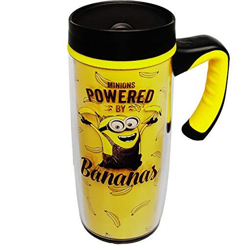 alles-meine.de GmbH doppelwandige - Isolier & Thermo - Trinkflasche / Trinkbecher / Becher - Minions - ich einfach unverbesserlich - BPA frei - 533 ml - auslaufsicher - Kaffeebec..