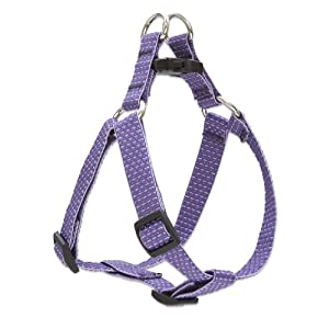 LupinePet Eco 3/4″ Lilac 15-21″ Step In Harness for Small Dogs