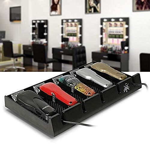 Hair Care Barber Clipper Plateau,Support de Tondeuse à Cheveux Anti-Slip barbier Tapis 5 Cheveux NotchesTrimmer Barber Outils Box