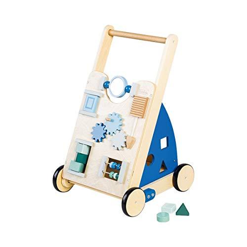 Pinolino 265401 Activity-Lauflernwagen 'Titus', blau, Transparent