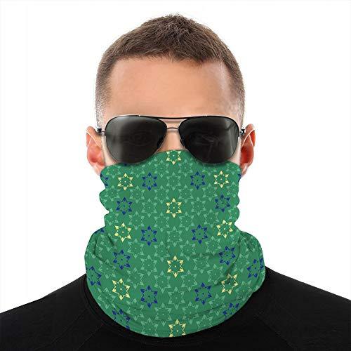 Xunulyn Bandana Couverture Bouclier Femmes Hommes pour poussière Vent Protection Solaire Rayures étoiles Brillantes Texture Tube écharpe sans Couture