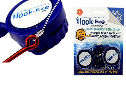 Fishing Gear Knot Tying Tool Hooks | Line Cutter cuts Braid and Leader | Cover Hooks on Fishing Poles Travel Safely Fully Rigged