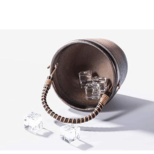 41nRv 2JzQL - IUYJVR Eiskübel, goldfarben, Porzellanboden, kreative Persönlichkeit, Isolierung, exquisit, tragbar, Größe 12,5 x 10,6 cm 12,5 x 10,6 cm.