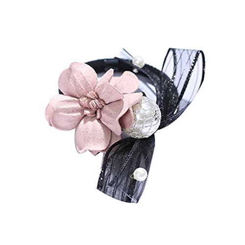 3 pièces Bowknot et Flora Ponytail Holders Hair Elastics Sweet Style Bandes de cheveux
