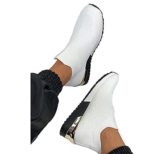 Pangyan Damen-Schuh – Frauen Mesh-Obermaterial, atmungsaktive Sneakers, elegant, elastisch, flache Schuhe, für junge Damen oder Damen