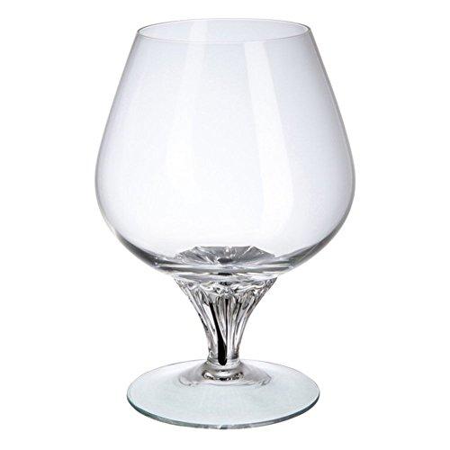 Cognac Glas Bohemia Ebano Weinglas, Glas, Schwarz, 20x 15x 30cm, 6Stück