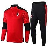 LQRYJDZ AC Milan Football Club Fans Training Tragen Wettbewerb Team Sportswear Herren Casual Wear-Tops und Hosen 2-teilige Anzug (Multiple Auswahlmöglichkeiten) (Size : M)