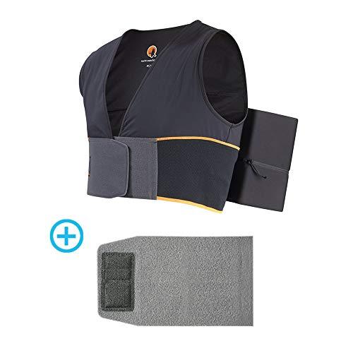 Nachtwaechter Schlafweste gegen Schnarchen Set mit Klettverlängerung zur bequemen Anpassung der Weste an den Körper (XL/XXL) - Schnarchen einfach abtrainieren!