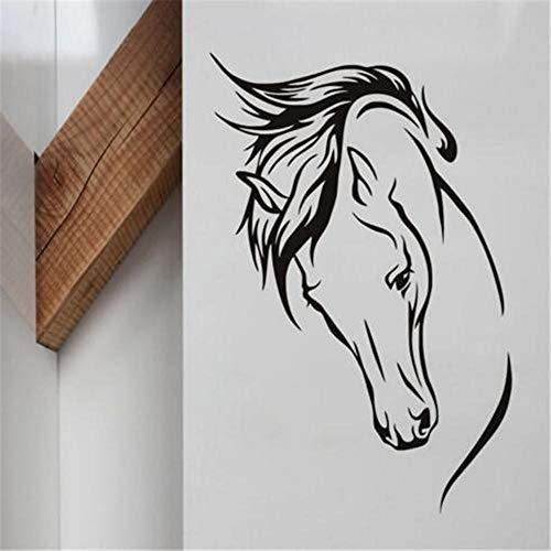 27x44 cm vinilo extraíble etiqueta de la pared cabeza de caballo pintura de la pared decoración de la sala de estar Animal etiqueta engomada del hogar