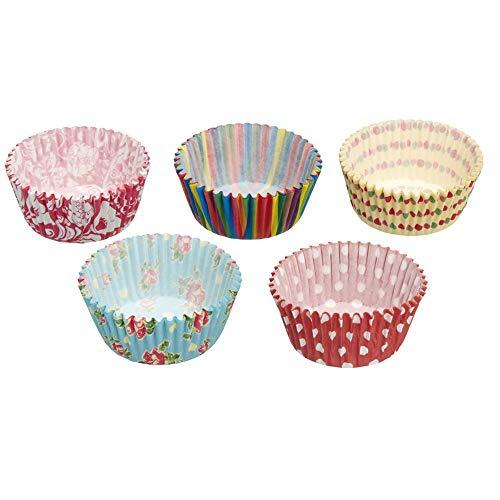 KitchenCraft Sweetly Does It - Moules à Muffins en Papier, Motifs Assortis, Plusieurs Coloris, Lot de 250