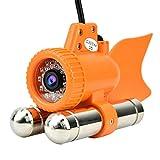Lazmin Buscador de Profundidad de Peces submarinos, DC12V 12LED 1000TVL HD Cámara de Pesca Impermeable, visión Nocturna de Video en Color, para monitorear la Pesca de acuicultura(20m)