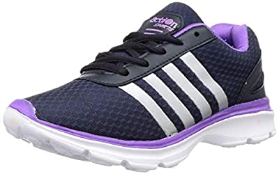 ACTION Women's Esl-409-Navy-Purple_6 Navy Trekking Shoes-6 UK (38 EU) (ESL-409-NAVY-PURPLE)