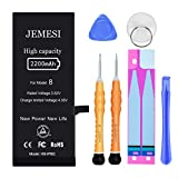 JEMESI Battery Compatible with iPhone 8, New 2200mAh High Capacity Replacement Battery, with Professional Repair Tools and Install Manual- 1 Year Warranty