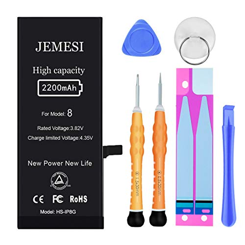 JEMESI Battery Compatible with iPhone 8, New 2200mAh High Capacity Replacement Battery, with...