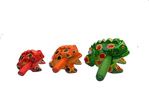 ZEXIN Percussion Instruments Wooden Frog Lucky Money Frog Gifts Crafts Musical Instrument Souvenir Decoration 2