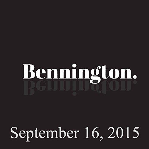 Bennington, Mark Normand, September 16, 2015 cover art