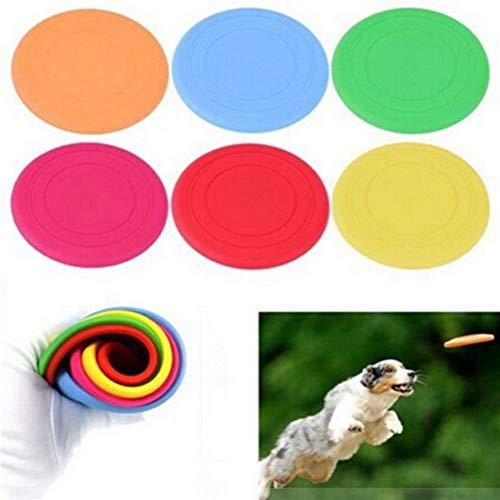 Frisbee Perros Diente De Perro De Juguete De Silicona Suave For Mascotas 1PC No Tóxico Resistente Platillo Volante De Juguete For Mascotas Disc-para Entrenamiento del Animal Doméstico