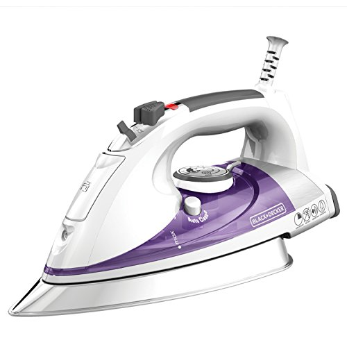 BLACK + DECKER IR1350S Professional Steam Iron, White/Purple