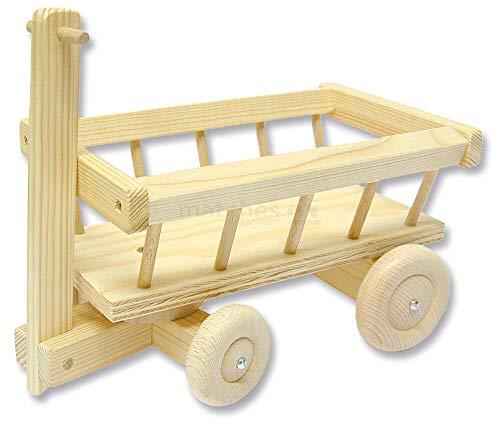 matches21 Leiterwagen Transportwagen Bollerwagen mit Lenkung als Holz Bausatz Bastelset Werkset f. Kinder ab 11 Jahren