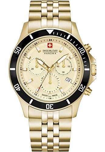 swiss military hanowa Unisex Erwachsene Analog Quarz Uhr mit Edelstahl Armband 06-5331.02.002
