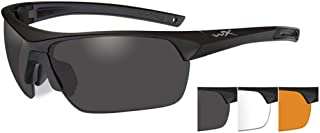 Wiley X Guard Advanced Safety Glasses Unisex Full Rimmed Plastic Frames in Wraparound Shape Offered in Grey/Clear/Light Rust/Matte Black Color from Eyeweb