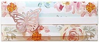 Porta soldi - delicato - cerimonie - matrimonio - busta portasoldi (formato 22 x 9,5 cm) + biglietto d'auguri vuoto all'in...