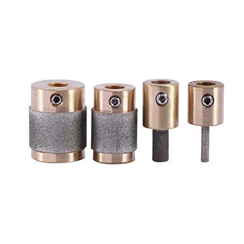 CENPEN 4 Brass Standard Grit Grinding bits 1 Pulgada 3/4 Pulgada 1/8 Pulgada 1/4 Pulgada for Inland Stained Glass