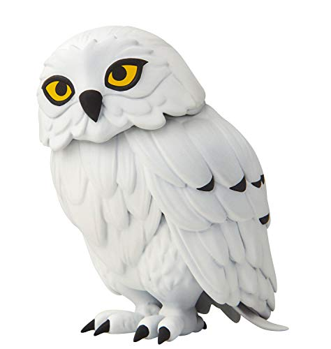 Jakks 400014 - Harry Potter Eule Hedwig als interaktive Figur, ca. 12,7 cm groß, kann den Kopf um 180 Grad drehen, mit Geräuschsensor und Eulenklängen, geeignet ab 4 Jahre