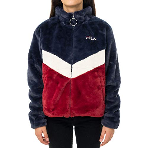 giacca fila donna Fila Felpa Pesante Donna Women Charmaine Jacket 687225 Blu Bianco Rosso - Blu