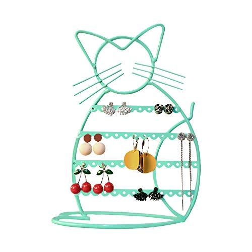 Urban Deco Earring Holder Stand/Earring Display/Earring Holder for Girls in Cat Shape (Jade)