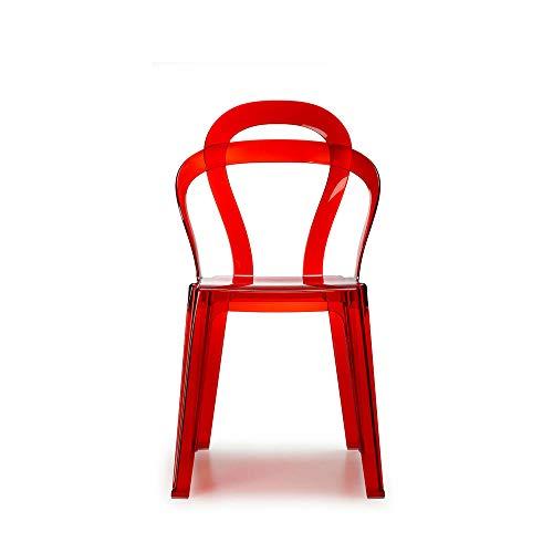 Scab Set 2 Design Titi? Sedia Rosso Trasparente