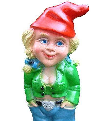 Rakso 0941 Gartenzwerg Zwergenfrau aus bruchfestem PVC Zwerg Made in Germany Figur