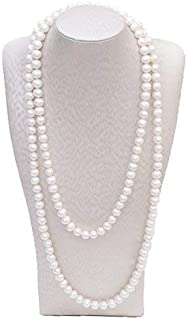 2 Pcs Pearl Necklace, Stylish Long Pearl Chain for Clothing, Clothing Accessories Bead Accessories