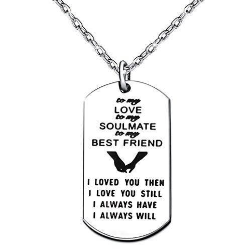 Schlüsselanhänger für Paare, Valentinstagsgeschenke für meine Liebe, Soulmate, beste Freundin, I Love You Then and I Always Will
