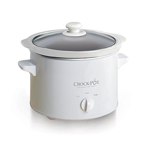 Mr. Coffee Crock-Pot 5025-WG-NP 2.5QT, White Slow Cooker, 2.5 quarts
