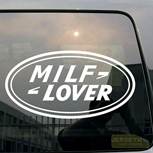 SUPERSTICKI Milf Lover 20 cm Aufkleber Autoaufkleber,Wandtattoo Profi-Qualität für Lack,Scheibe,etc.Waschanlagenfest